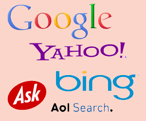 google yahoo ask aol bing first page